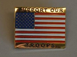 Image For SUPPORT OUR TROOPS PIN